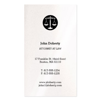 Attorney at Law | Classic Scales of Justice Pack Of Standard Business Cards