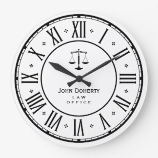 ATTORNEY AT LAW | Elegant Classy Gift Large Clock