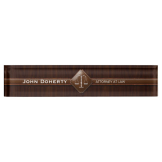 ATTORNEY AT LAW | Elegant Desk Name Plate