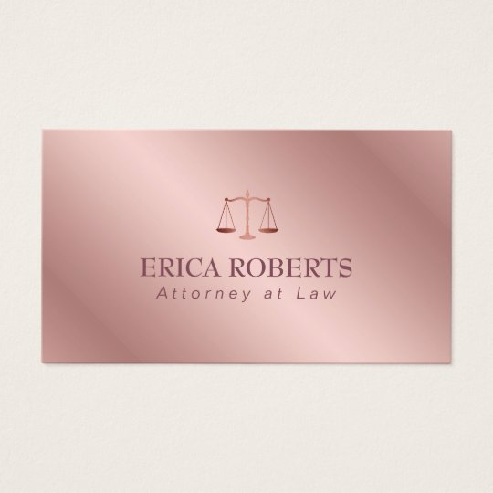 Attorney at Law Elegant Foil Rose Gold Lawyer