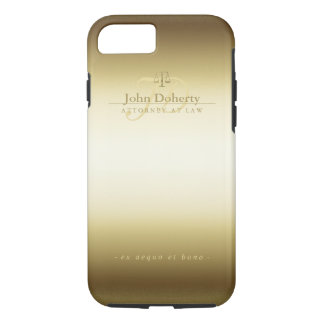 Attorney At Law | Elegant Gold Scales of Justice iPhone 8/7 Case