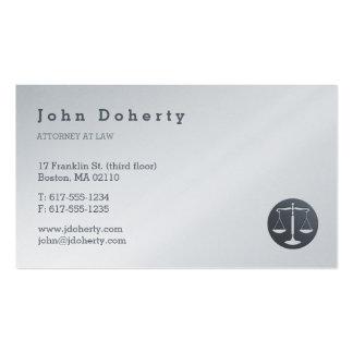 Attorney at Law | Elegant Platinum Pack Of Standard Business Cards