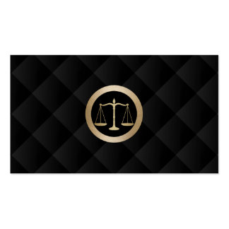 Attorney at Law Gold Scale Classy Black Quilted Pack Of Standard Business Cards