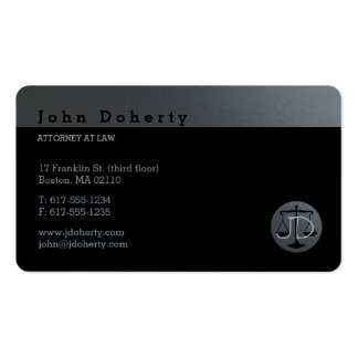 Attorney at Law | Initials Pack Of Standard Business Cards