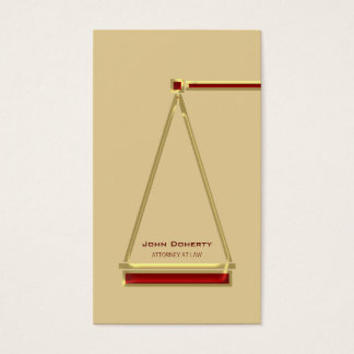 ATTORNEY AT LAW - Modern Business Card