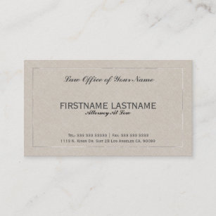 Texture lawyer attorney business cards zazzle uk attorney at law office beige faux linen business card reheart Image collections