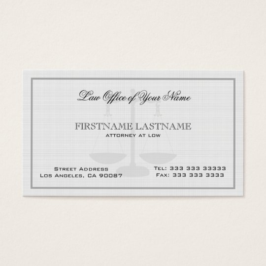 Attorney At Law Office Simple Linen Texture Business