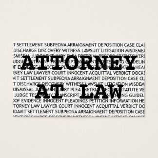 Attorney at Law Terms Business Card