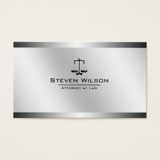 Attorney At Law White and Silver Steel Legal Scale