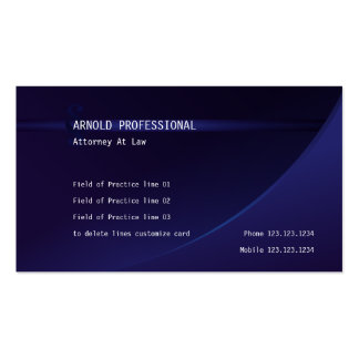 Attorney Business Card Deep Blue Lawyer Justice