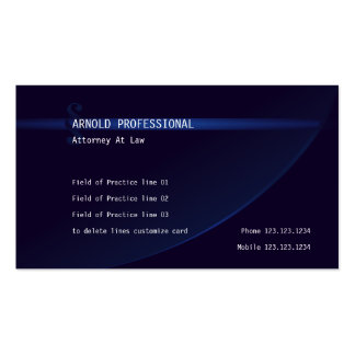 Attorney Business Card Navy Blue Lawyer Justice