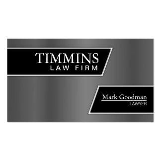 Attorney Business Card - Stylish Silver & Black