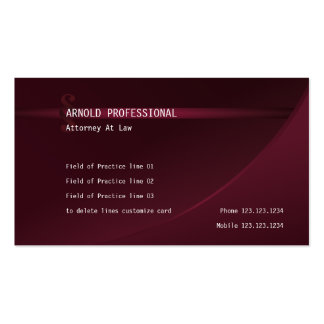 Attorney Business Card wine red Lawyer Justice Law