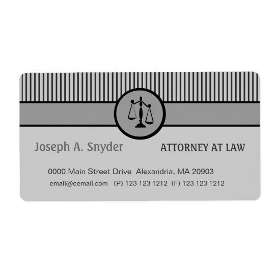 Attorney Business Striped Pattern Justice Scale