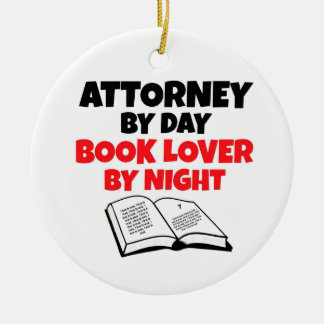 Attorney by Day Book Lover by Night Christmas Ornament