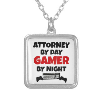 Attorney by Day Gamer by Night Silver Plated Necklace