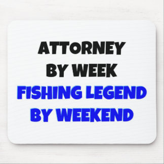 Attorney by Week Fishing Legend By Weekend Mouse Mat