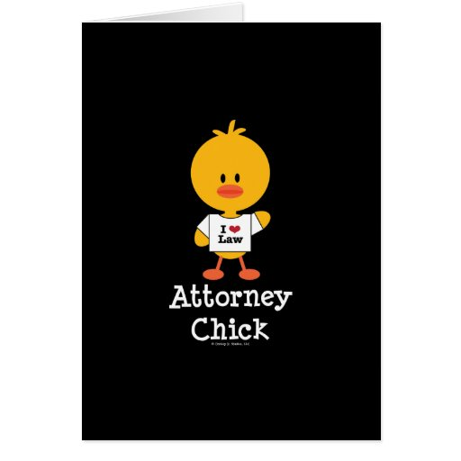 Attorney Chick Greeting Card