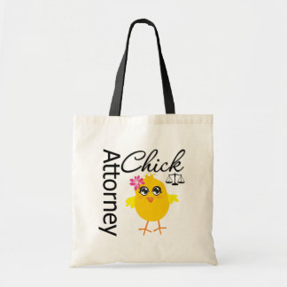 Attorney Chick v1 Budget Tote Bag