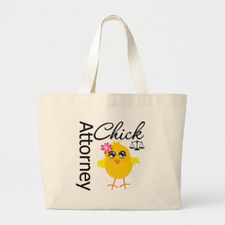 Attorney Chick v1 Jumbo Tote Bag