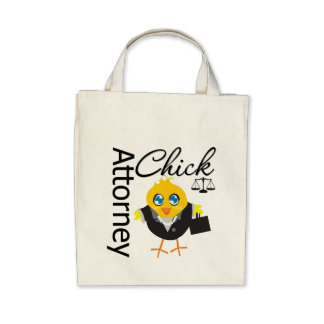 Attorney Chick v3 Canvas Bags