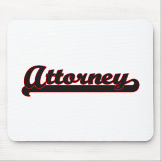 Attorney Classic Job Design Mouse Pad