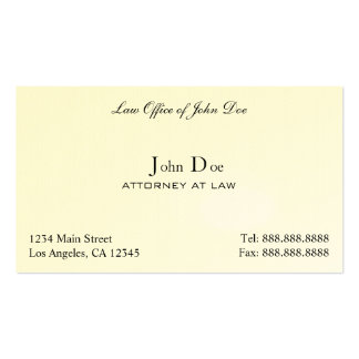 Attorney Clean - Law Office Pack Of Standard Business Cards