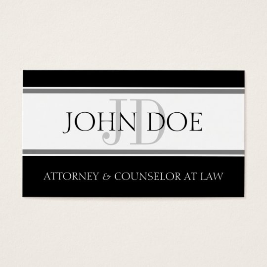 Attorney D Stripe W/W Business Card