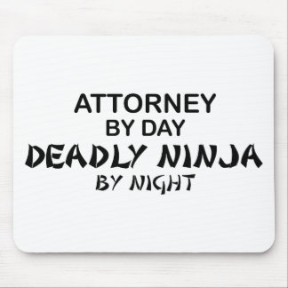 Attorney Deadly Ninja by Night Mouse Mat