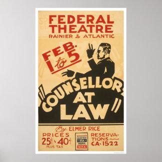 Attorney Drama 1938 WPA Poster
