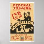 Attorney Drama 1938 WPA Print