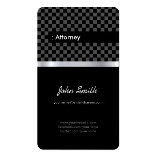 Attorney - Elegant Black Checkered Pack Of Standard Business Cards