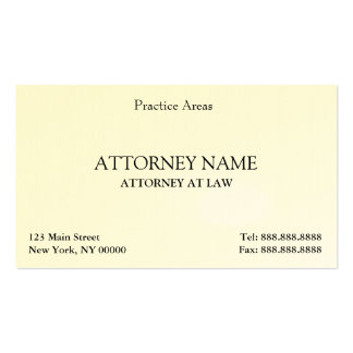 Attorney Elegant Clean Pack Of Standard Business Cards