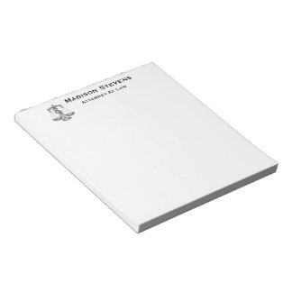 Attorney Justice Scales Lawyer Leather Notepad