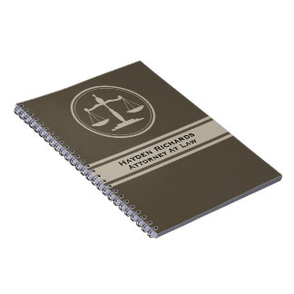 Attorney Justice Scales Lawyer Notebooks