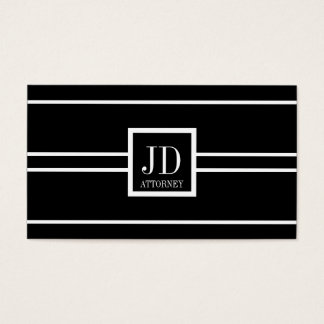Attorney Lawyer Black/White Striped Pendant Business Card