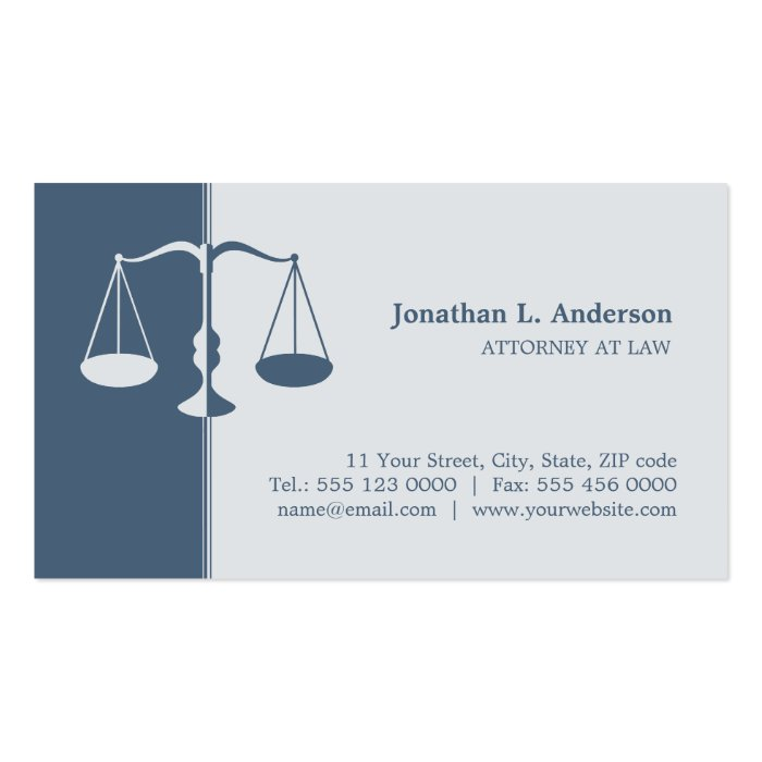 Attorney / Lawyer - Blue business card