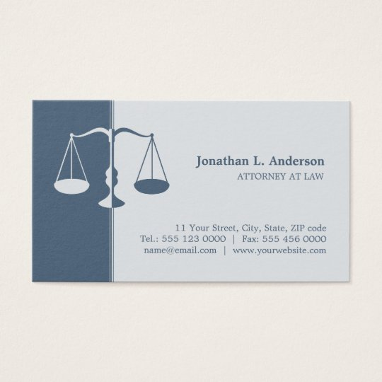 Attorney Lawyer (Blue) Professional business card