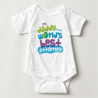 Attorney Lawyer Dad quote baby t-shirt