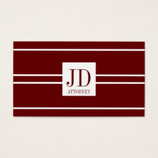 Attorney Lawyer Dark Cherry White Striped Pendant