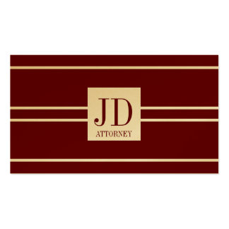 Attorney Lawyer Gold Paper Cherry White Pendant Pack Of Standard Business Cards
