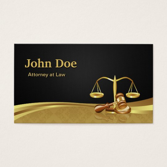 Attorney Lawyer Justice Elegant Black Gold Damask Business
