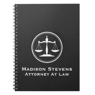 Attorney Lawyer Justice Scales Spiral Notebook