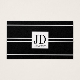Attorney Lawyer Law Black Golden Striped Pendant Business Card