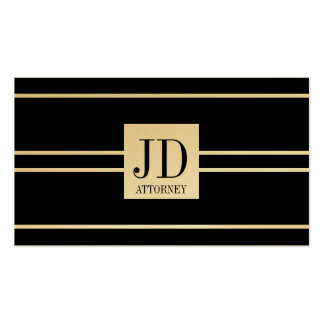 Attorney Lawyer Law Black Golden Striped Pendant Pack Of Standard Business Cards
