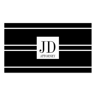 Attorney Lawyer Law Black White Striped Pendant Pack Of Standard Business Cards