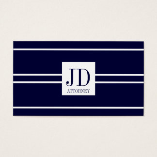 Attorney Lawyer Law Dark Blue White Stripe Pendant Business Card