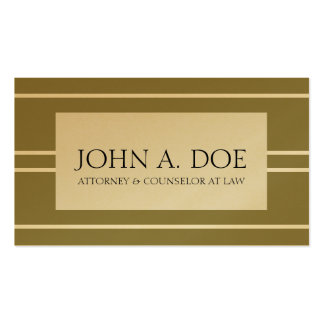 Attorney Lawyer Law Firm Antique Gold White Stripe Double-Sided Standard Business Cards (Pack Of 100)
