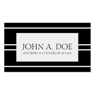 Attorney Lawyer Law Firm Black White Stripes Pack Of Standard Business Cards