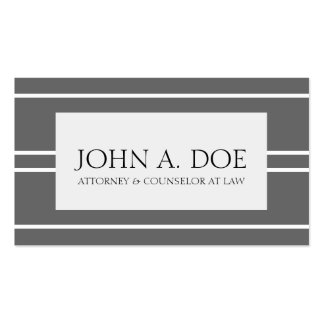 Attorney Lawyer Law Firm Dark Grey White Stripes Pack Of Standard Business Cards